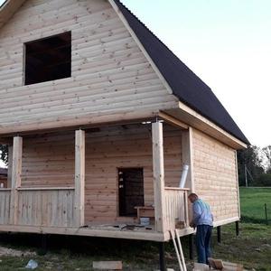 Дом сруб из бруса Алексей 6×6 с установкой в Орше