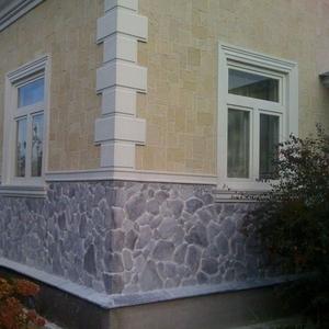 Отделка фасада камнем облицовка цоколя и стен камнем в Орше