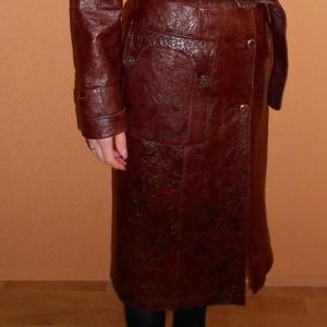 Продам кожаный плащ. Произ-во Турция.